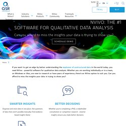 NVivo product range