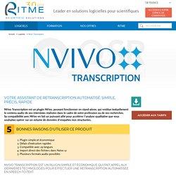 Nvivo Transcription - Logiciels - Ritme