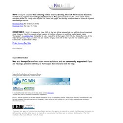 Nvu - The Complete Web Authoring System for Linux, Macintosh and Windows