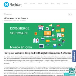 Nwebkart -eCommerce Solution-eCommerce software in India