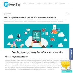 Nwebkart - Best Payment Gateway For eCommerce Website