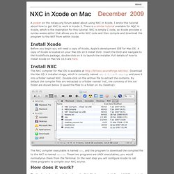 NXC in Xcode on Mac