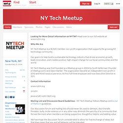 NY Tech Meetup (New York, NY