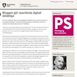 Bloggen gör nyanlända digitalt delaktiga