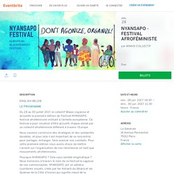 NYANSAPO - FESTIVAL AFROFÉMINISTE Billets, ven le 28 juil. 2017, 18:30