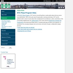 NYC DOT - NYC Plaza Program Sites