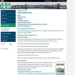 DOT - Staten Island Ferry