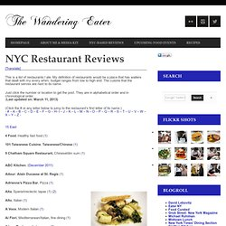 NYC Restaurant Reviews