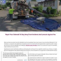 NYC Sidewalk contractor - Blog