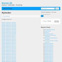 Nyheder - bionyt.dk