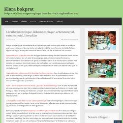 Bokprat och litteraturgenomgångar inom barn- och ungdomslitteratur