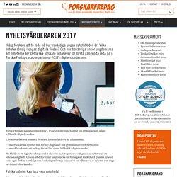 Nyhetsvärderaren 2017 - ForskarFredag