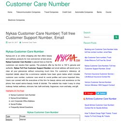 Nykaa Customer Care Number
