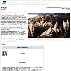 NYMPHS - Greek Mythology Link
