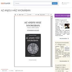 AZ ANJOU-HÁZ NYOMÁBAN - PDF Ingyenes letöltés