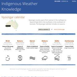 Nyoongar calendar - Indigenous Weather Knowledge