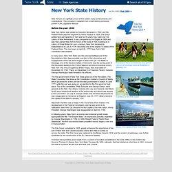 New York - State History