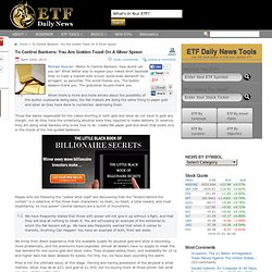 SPDR Gold Trust ETF (NYSEARCA:GLD), iShares Silver Trust ETF (NYSEARCA:SLV): To Central Bankers: You Are Golden Toast On A Silver Spoon