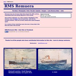 NZSS Co Ship Remuera