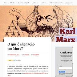 O que é alienação em Marx?