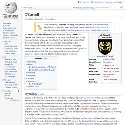 O'Carroll - Wikipedia