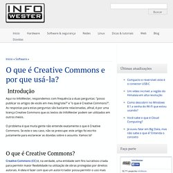 O que é Creative Commons e por que usá-la?