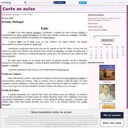 O Fado. Portugal - Curte as aulas