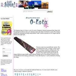 O-Koto Culture of Japan