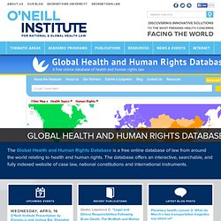 The O'Neill Institute for National and Global Health Law
