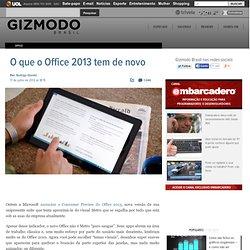 O que o Office 2013 tem de novo? - CometBird