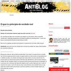 O que é o princípio da verdade real « Antiblog