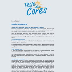 O Teste das Cores