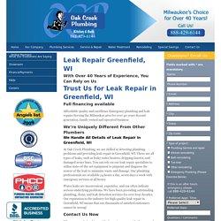 Emergency Plumber Greenfield WI