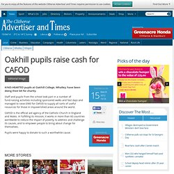 Oakhill pupils raise cash for CAFOD - Local News - Clitheroe Advertiser and Times