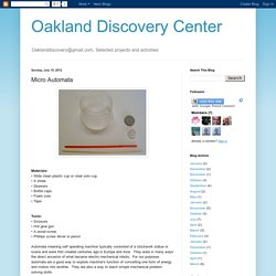 Oakland Discovery Center: Micro Automata