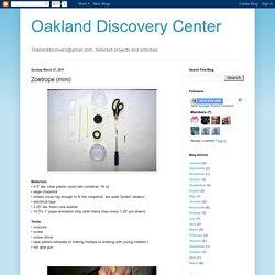 Oakland Discovery Center: Zoetrope (mini)