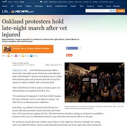 Oakland protesters hold late-night march - US news - Life