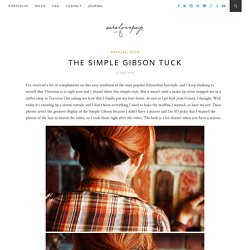 The Simple Gibson Tuck | Sara Lynn Paige PhotographySara Lynn Paige Photography