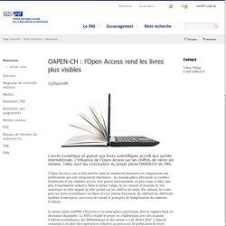 OAPEN-CH : l'Open Access rend les livres plus visibles
