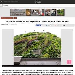 L'oasis d'Aboukir, un mur végétal au cœur de Paris