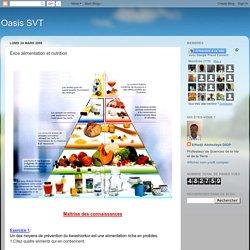 Oasis SVT: Exos alimentation et nutrition
