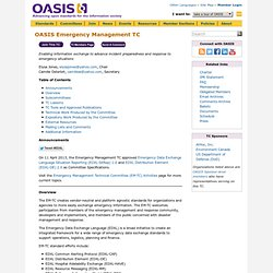OASIS Emergency Management TC