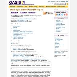 OASIS Open Data Protocol (OData) TC