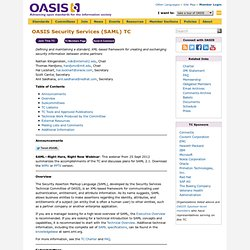 OASIS Security Services (SAML