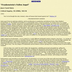"Oates, ""Frankenstein's Fallen Angel"""