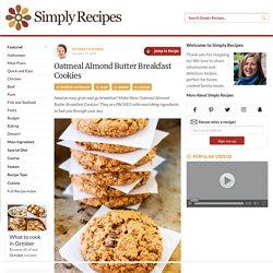 Oatmeal Almond Butter Breakfast Cookies Recipe