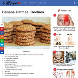 Banana Oatmeal Cookies – 07Recipes