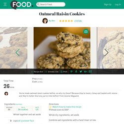 Oatmeal Raisin Cookies Recipe - Dessert.Food.com - 35813