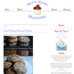 Giant Oatmeal Raisinet Cookies