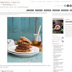 One Pot Honey Oatmeal Cookies from Simply Sensational Cookies Cookbook